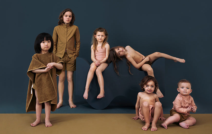 Kids wearing Organic Swimwear