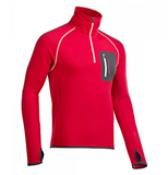 Mens Merino Fleece Zip Neck