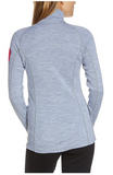 Womens Merino 280 Zip Neck Top