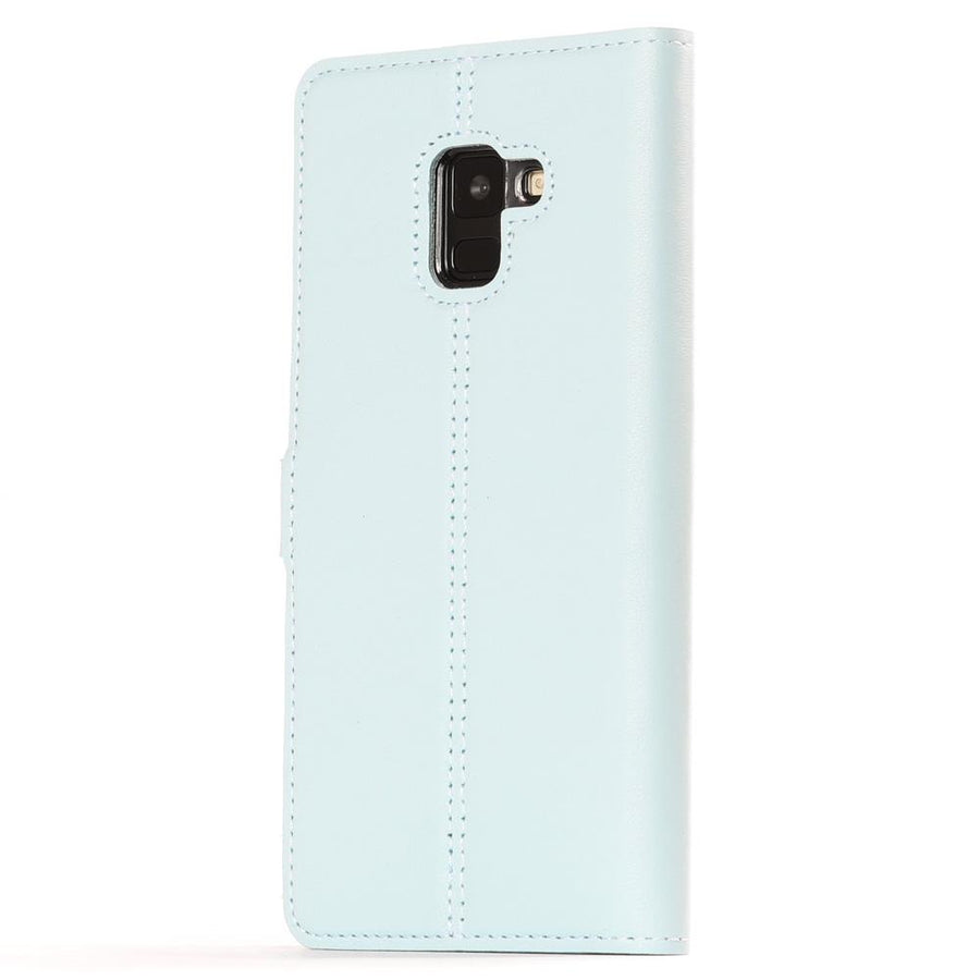 Sky Blue Pastel Leather Case - Samsung Galaxy A8 Plus (2018) - Snakehive
