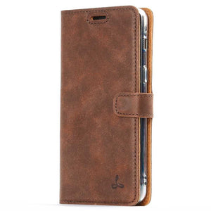 Vintage Chestnut Brown Leather Wallet - Samsung Galaxy A8 (2018) - Snakehive