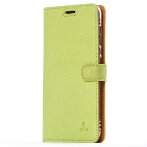 Vintage Moss Green Leather Wallet - Samsung Galaxy A8 (2018) - Snakehive