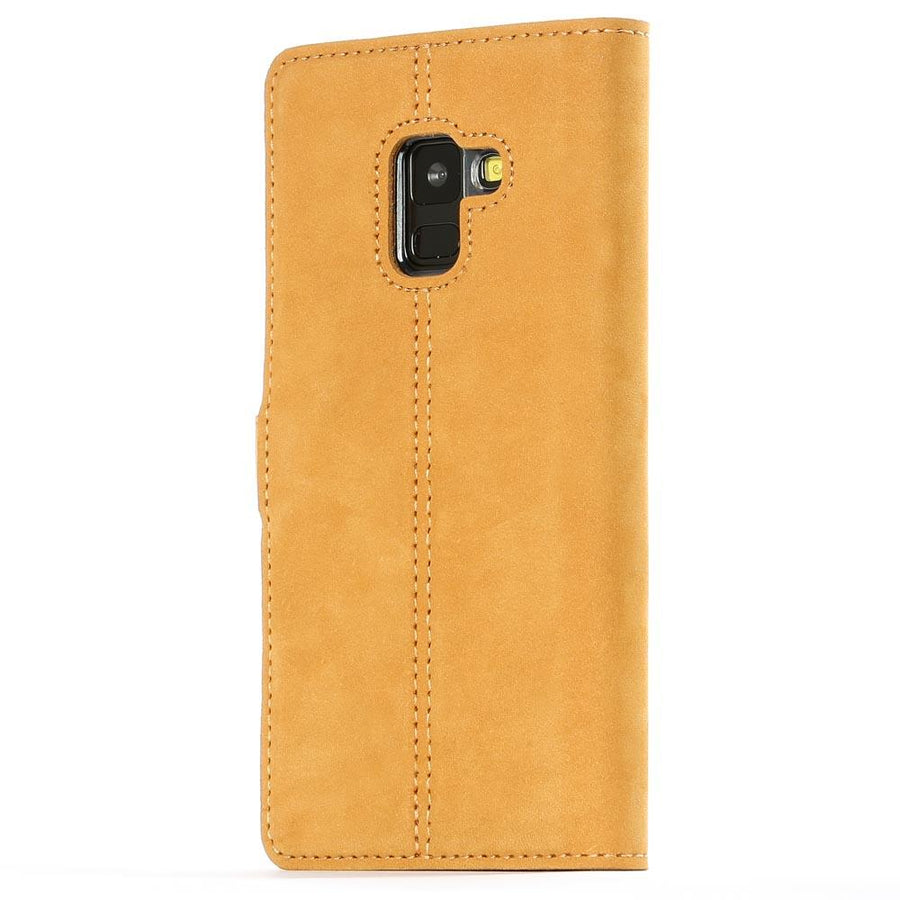 Vintage Honey Gold Leather Wallet - Samsung Galaxy A8 (2018) - Snakehive