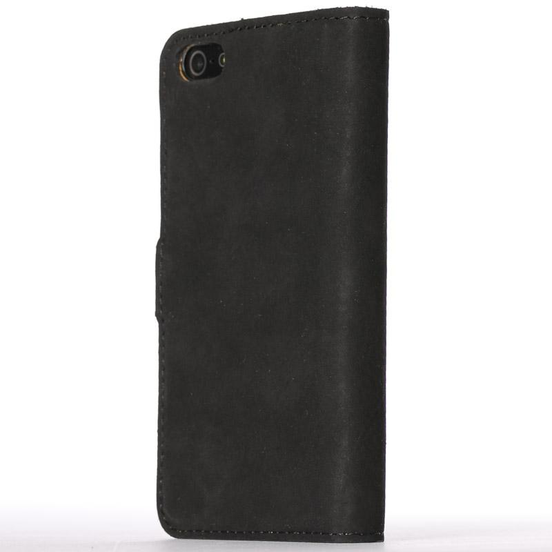 Vintage Black Leather  Wallet - Apple iPhone 5/5S/SE - Snakehive