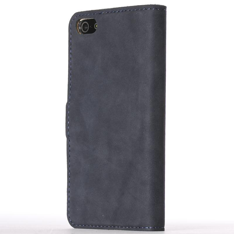 Vintage Navy Leather  Wallet - Apple iPhone 5/5S/SE - Snakehive