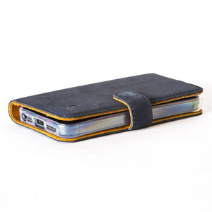 Vintage Navy Leather  Wallet - Apple iPhone 5/5S - Snakehive