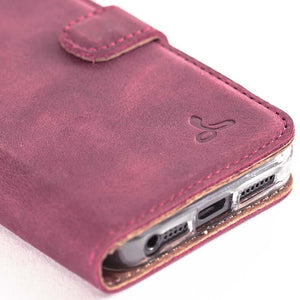 Vintage Plum Leather  Wallet - Apple iPhone 5/5S - Snakehive