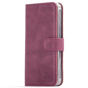 Vintage Plum Leather  Wallet - Apple iPhone 5/5S/SE - Snakehive