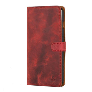 Vintage Burgundy Leather Wallet - Apple iPhone 6 Plus/6S Plus - Snakehive