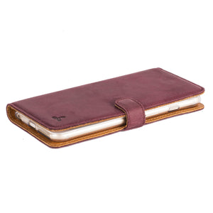 Vintage Plum Leather Wallet - Apple iPhone 6 Plus/6S Plus - Snakehive