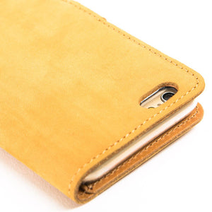 "Vintage Honey Gold Leather Wallet - Apple iPhone 6/6S (4.7"") - Snakehive"