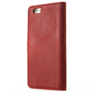"Vintage Burgundy Leather  Wallet - Apple iPhone 6/6S (4.7"") - Snakehive"