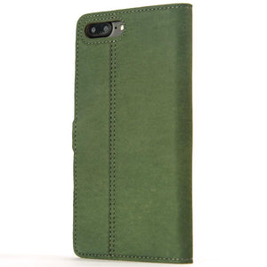 Vintage Bottle Green Leather Wallet - Apple iPhone 7 Plus - Snakehive