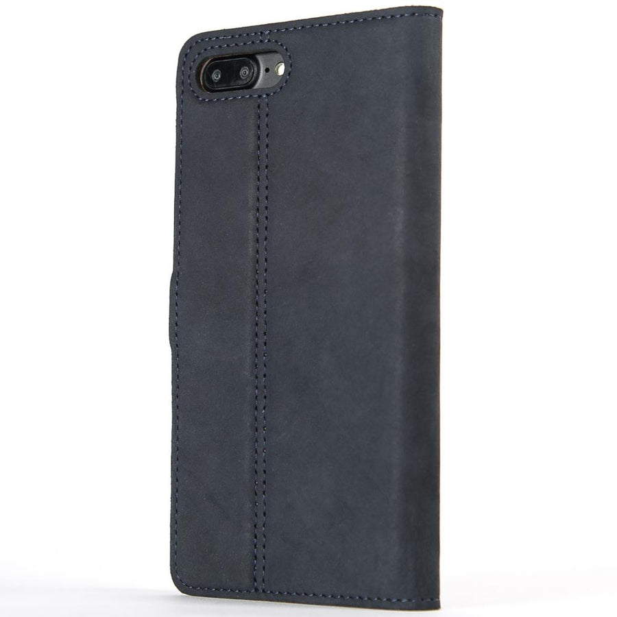 Vintage Navy Leather Wallet - Apple iPhone 7 Plus - Snakehive