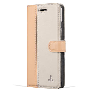 Peach and Porcelain Pastel Leather Case - Samsung Galaxy A3 (2017) - Snakehive