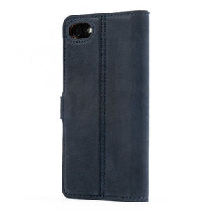 Vintage Leather Case Navy - Apple iPhone SE (2020)