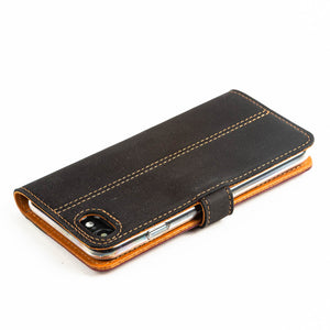 Vintage Leather Case Black and Brown - Apple iPhone SE (2020)