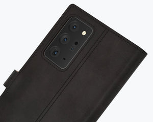 Vintage Leather Case Black - Samsung Galaxy Note 20 Ultra