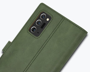 Vintage Leather Case Green - Samsung Galaxy Note 20