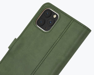 Vintage Leather Case Green - Apple iPhone 12 Pro Max