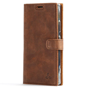 Vintage Brown Leather Wallet - Sony Xperia XA2 - Snakehive