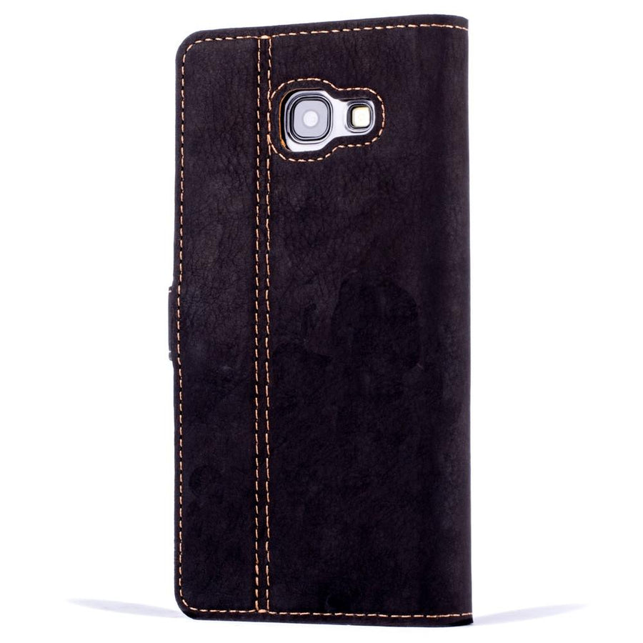 Vintage Two Tone Black/Brown Leather Wallet - Samsung Galaxy A5 (2017) - Snakehive