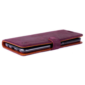 Vintage Plum Leather Wallet - Samsung Galaxy S8+ (Plus) - Snakehive