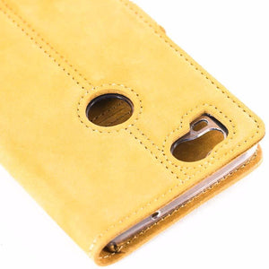 Vintage Honey Gold Leather Wallet - Google Pixel 2 - Snakehive