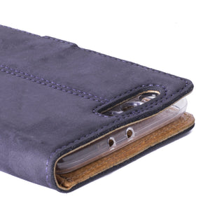 Vintage Navy Leather Wallet - Huawei P10 Plus - Snakehive