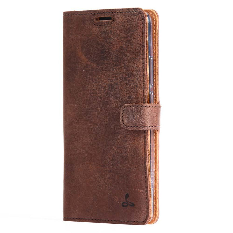 Vintage Chestnut Brown Leather Wallet - Huawei Mate 10 Pro - Snakehive