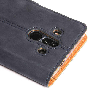 Vintage Navy Leather Wallet - Huawei Mate 10 Pro - Snakehive