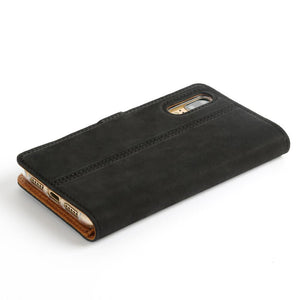 Vintage Black Leather Wallet - Huawei P20 - Snakehive