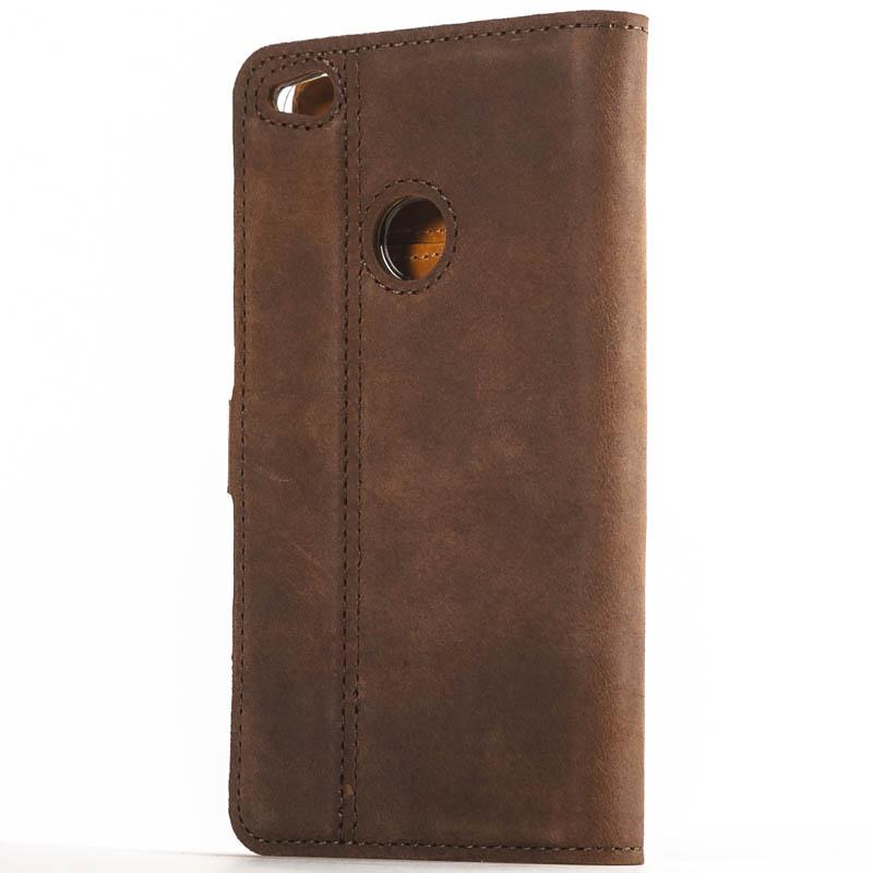 Vintage Chestnut Brown Leather Wallet - Huawei P8 Lite (2017) - Snakehive