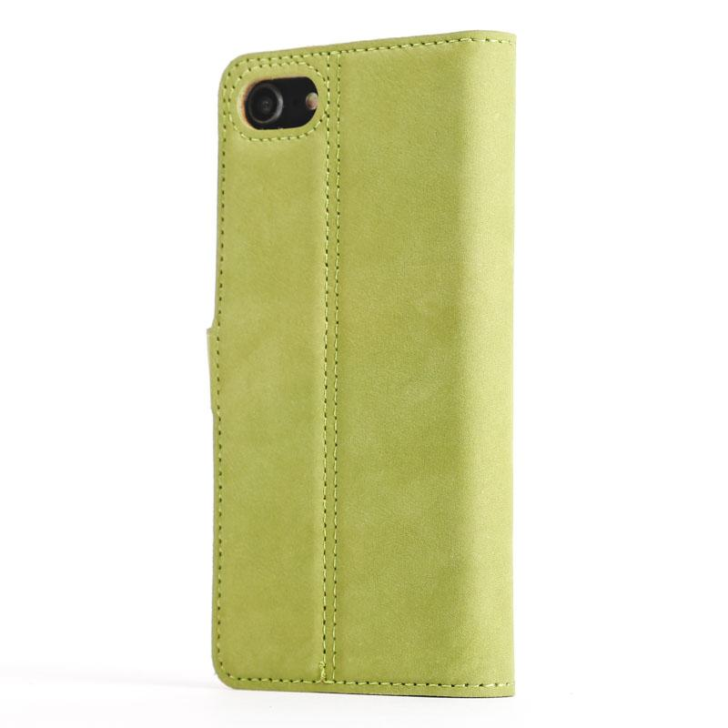 Vintage Moss Green Leather Wallet - Apple iPhone 8 - Snakehive