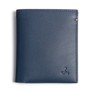 Leder Portmonee - The Essential Collection - NAVY / COGNAC