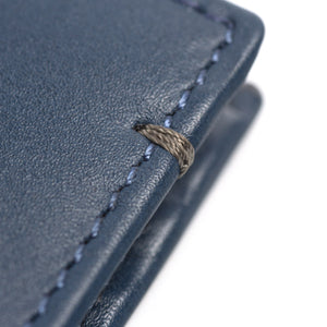 Leder Portmonee - The Essential Collection - NAVY / GRAU