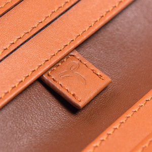 Leder Portmonee - The Essential Collection - HELL BRAUN / COGNAC