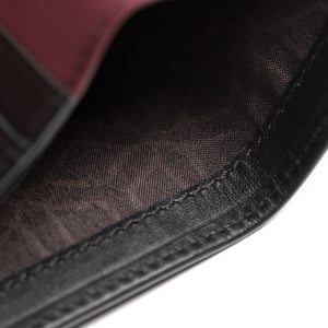 Leder Portmonee - The Essential Collection - SCHWARZ / BURGUND