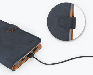 Vintage Leather Case Navy - Apple iPhone 12 Pro