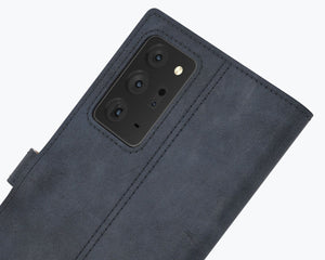 Vintage Leather Case Navy - Samsung Galaxy Note 20 Ultra