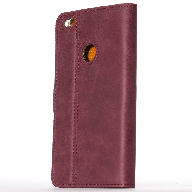 Vintage Plum Leather Wallet - Huawei P8 Lite (2017) - Snakehive