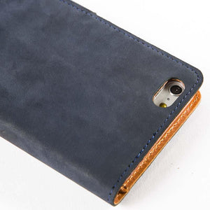 Vintage Navy Leather Wallet - Apple iPhone 6 Plus/6S Plus - Snakehive