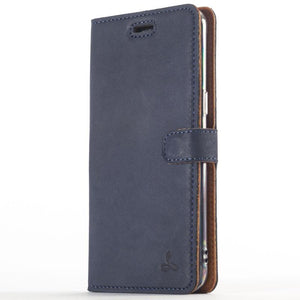 Vintage Navy Leather Wallet - OnePlus 5 - Snakehive