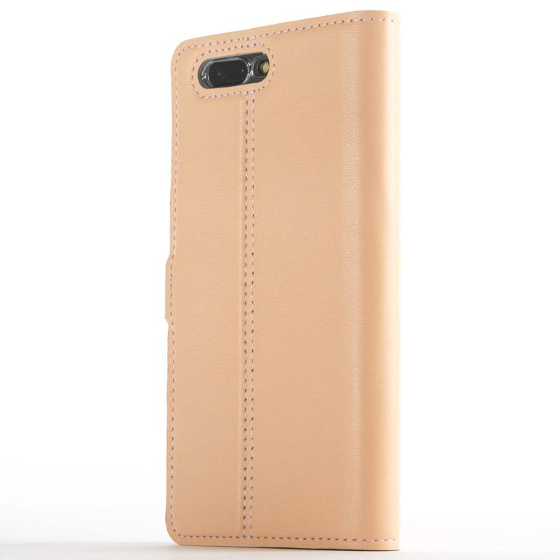 Peach Pastel Leather Case - OnePlus 5 - Snakehive