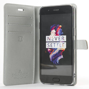 Porcelain Pastel Leather Case - OnePlus 5 - Snakehive