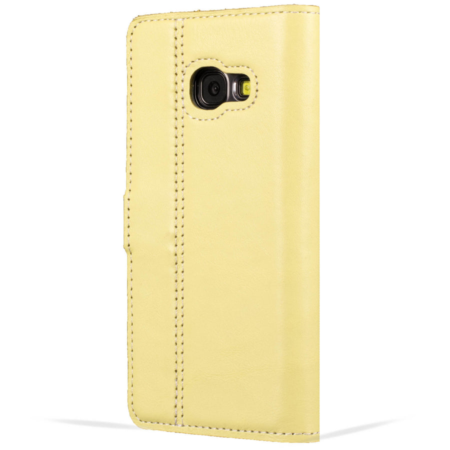 Lemon Pastel Leather Case - Samsung Galaxy A3 (2017) - Snakehive