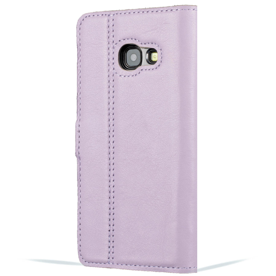 Lilac and Porcelain Pastel Leather Case - Samsung Galaxy A3 (2017) - Snakehive