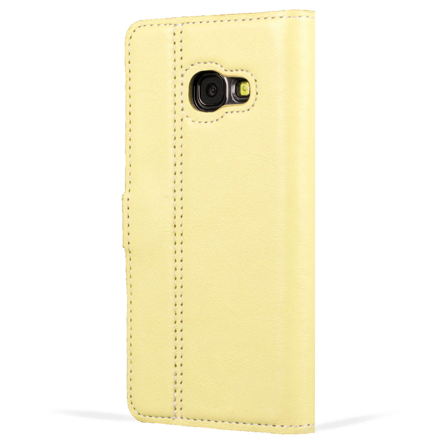 Lemon and Porcelain Pastel Leather Case - Samsung Galaxy A3 (2017) - Snakehive