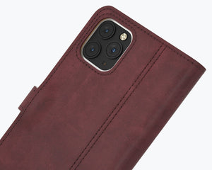 Vintage Leather Case Plum - Apple iPhone 12 Pro