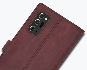 Vintage Leather Case Plum - Samsung Galaxy Note 20